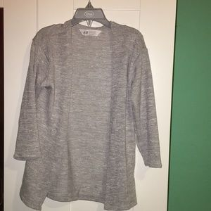 5/$10 Girls H&M grey cardigan